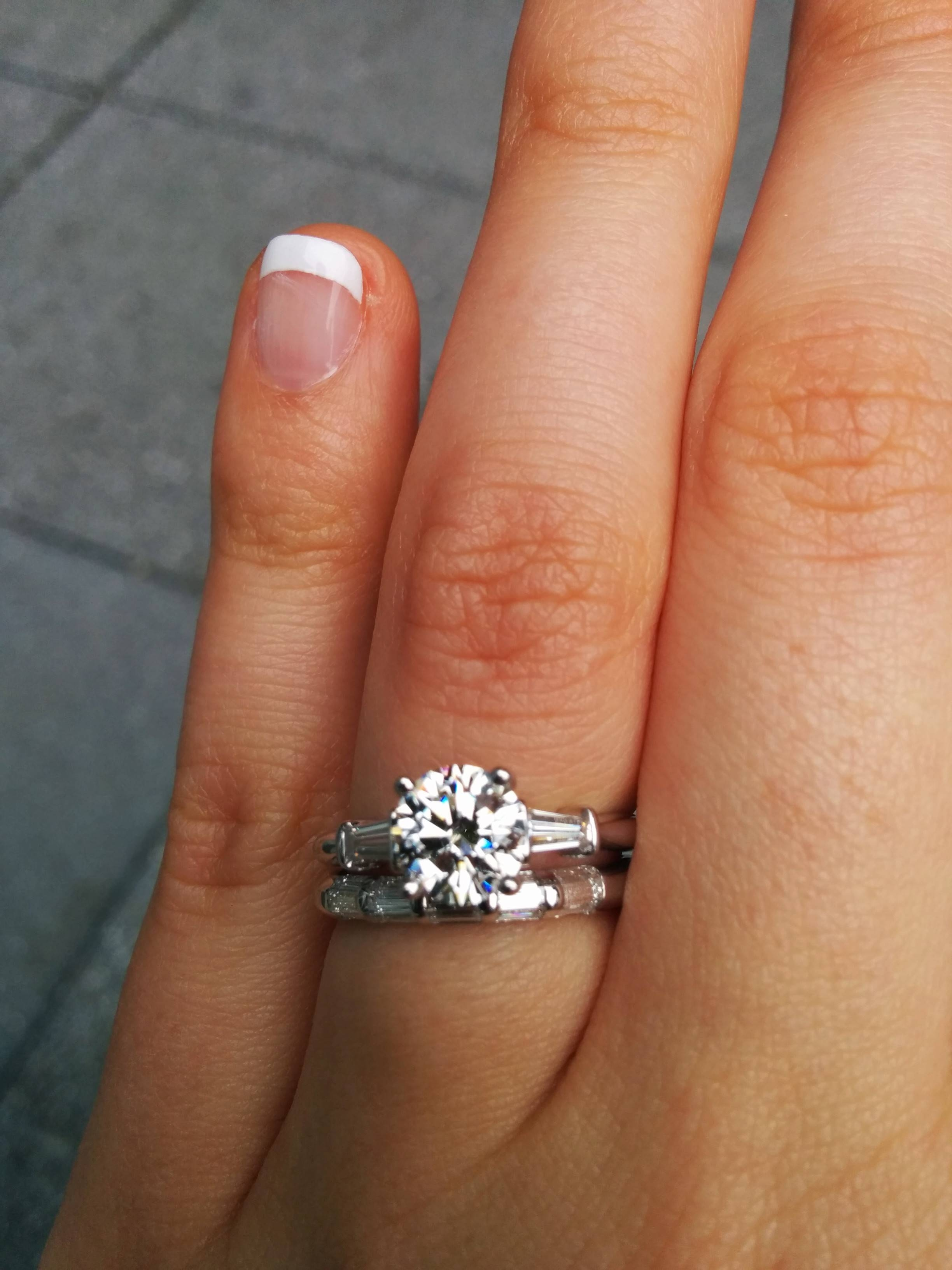 Baguette Wedding Bands! – Weddingbee Pertaining To Wedding Bands With Baguettes (View 2 of 15)