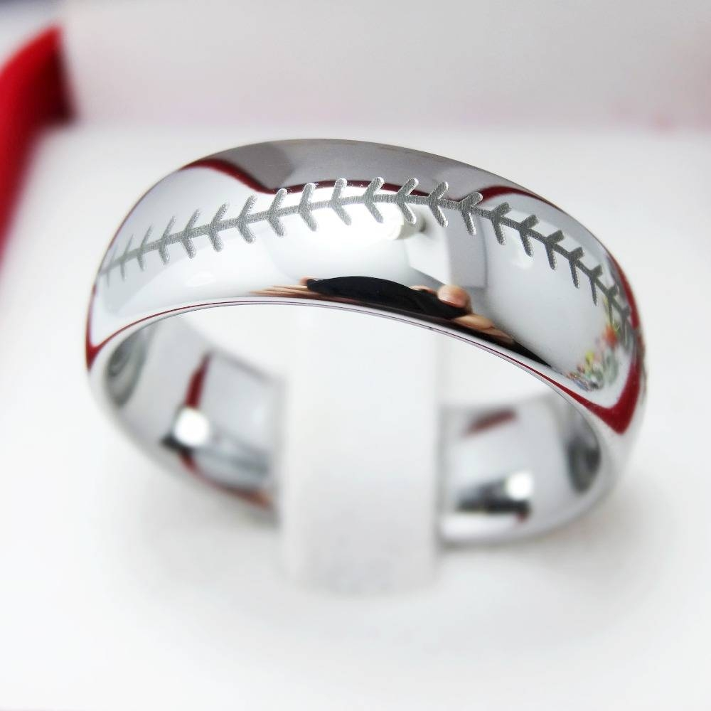 Baseball Rings For Men – Jewelry For Mens Baseball Wedding Bands (View 2 of 15)