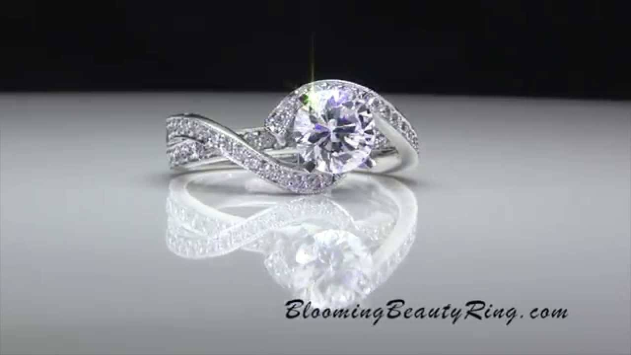 Bbr446 Engagement Ringbloomingbeautyring – Youtube Within Wrap Around Engagement Rings (View 3 of 15)
