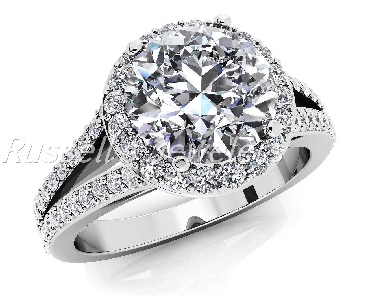 Beautiful 14 Karat Diamond Engagement Ring Set With A  (View 6 of 15)