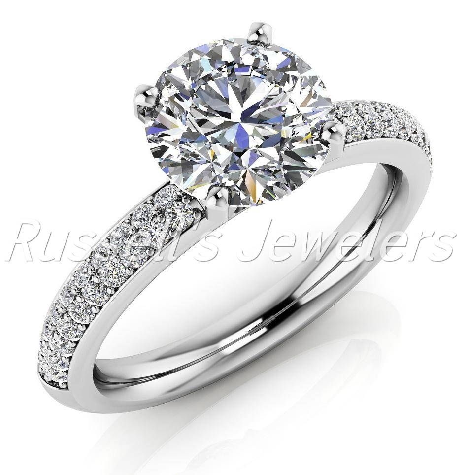 Beautiful 14 Karat Diamond Engagement Ring Set With A  (View 7 of 15)