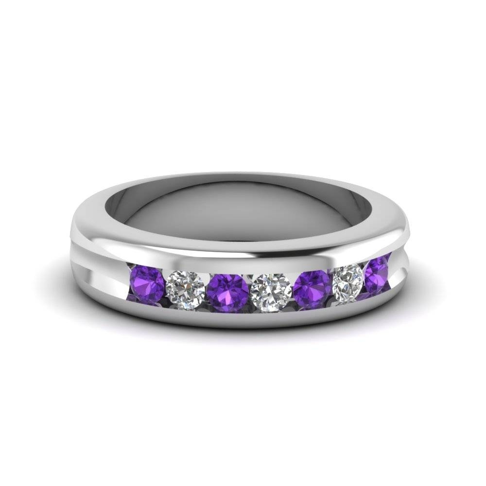 Beautifully Crafted Purple Topaz Wedding Rings| Fascinating Diamonds Intended For Purple Wedding Bands (View 1 of 20)