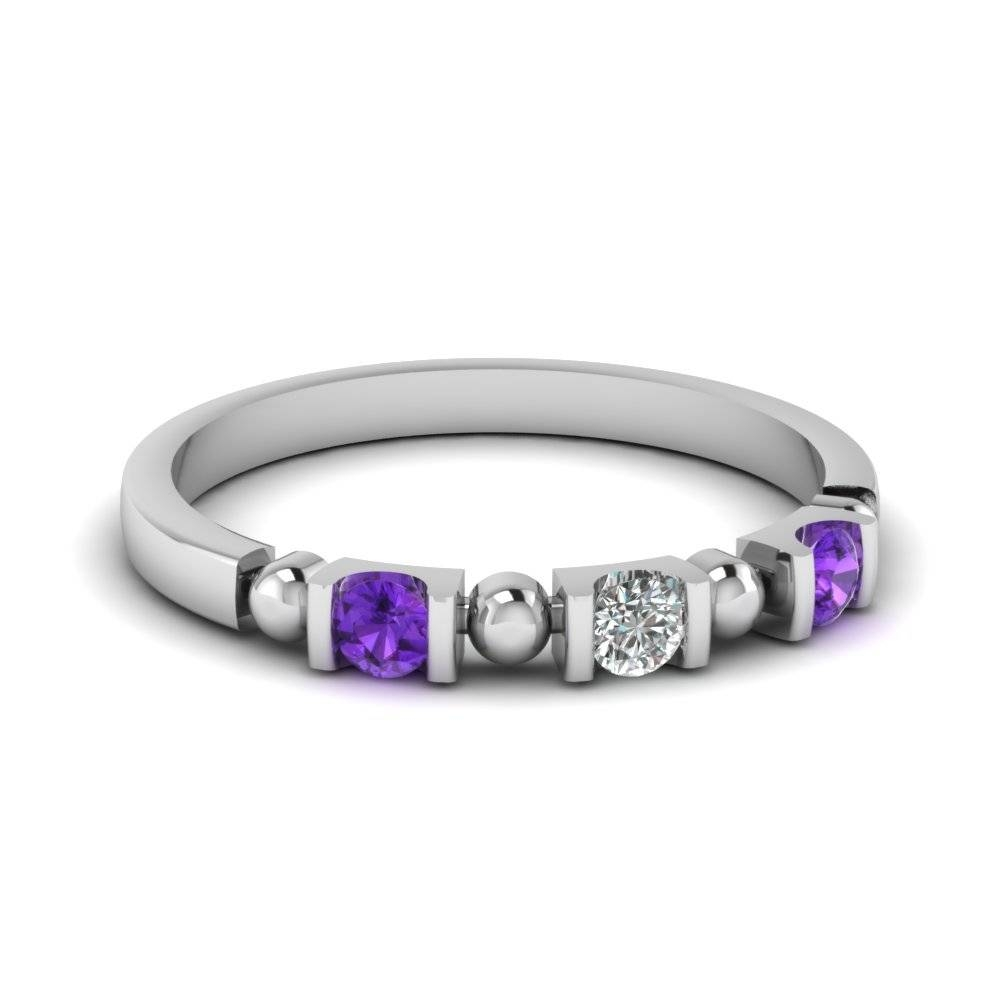 Beautifully Crafted Purple Topaz Wedding Rings| Fascinating Diamonds Regarding Purple Wedding Bands (View 2 of 20)