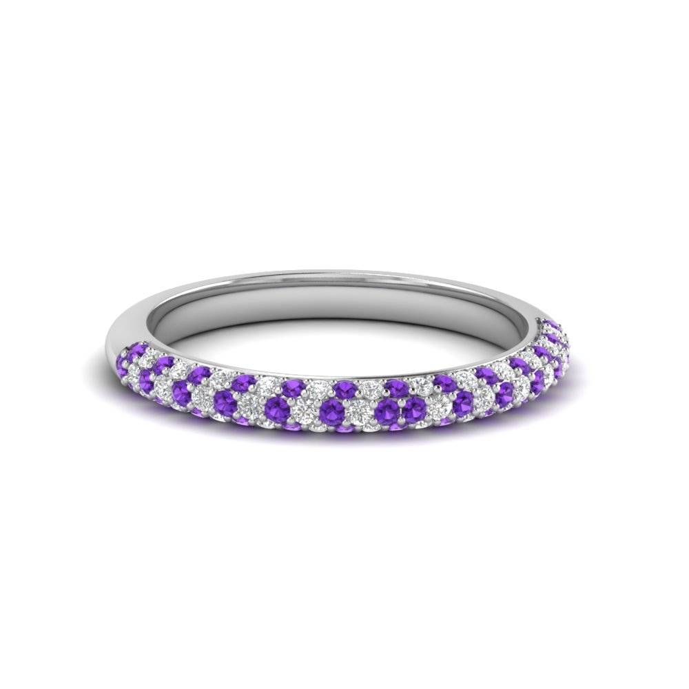Beautifully Crafted Purple Topaz Wedding Rings| Fascinating Diamonds With Regard To Purple Wedding Bands (View 3 of 20)