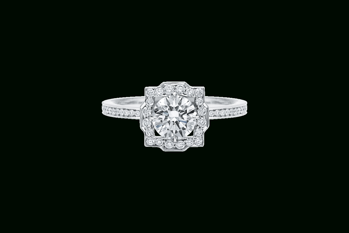 Belle Round Brilliant Engagement Ring | Harry Winston For Harry Winston Micropave Engagement Rings (View 3 of 15)