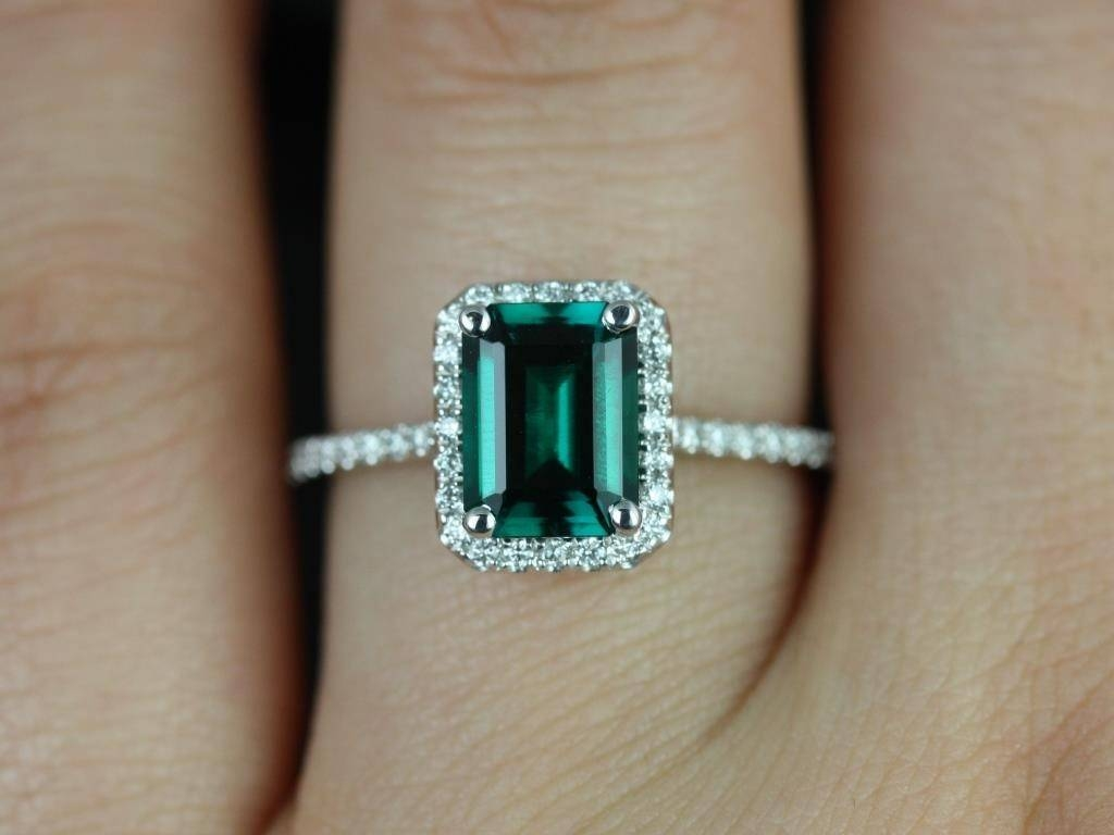 Beloved Engagement Ring Settings For Emerald Cut Diamonds Tags With Emeralds Engagement Rings (Gallery 5 of 15)