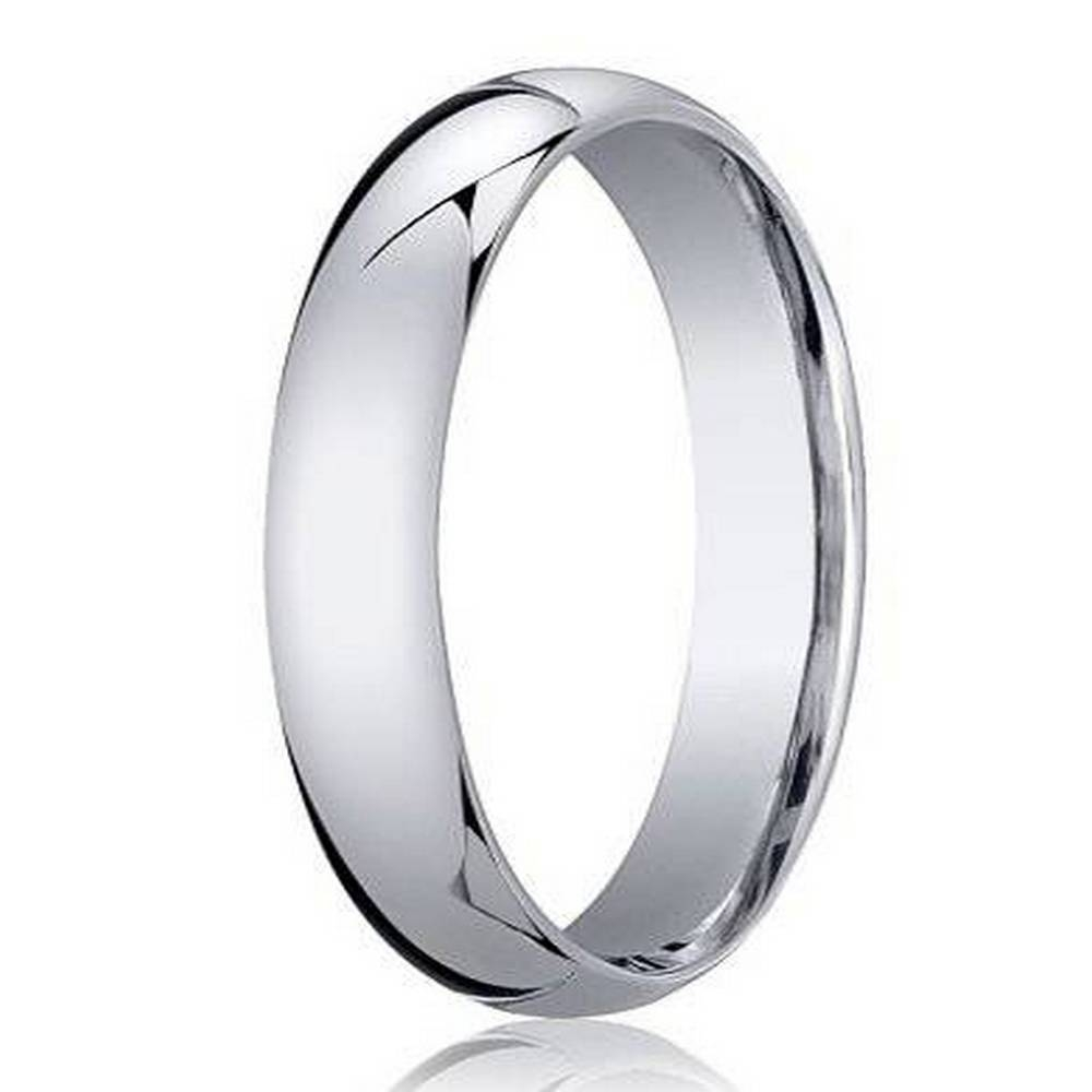 Benchmark 950 Platinum Men's Wedding Ring, Traditional Design, 4Mm With Regard To Platinum Wedding Rings For Him (View 3 of 15)