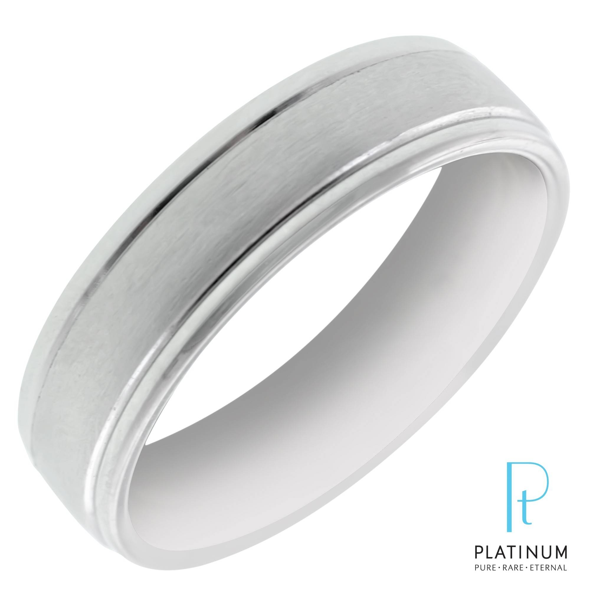 Benchmark Mens Wedding Band In Platinum (6Mm) For Platinum Male Wedding Rings (View 3 of 15)