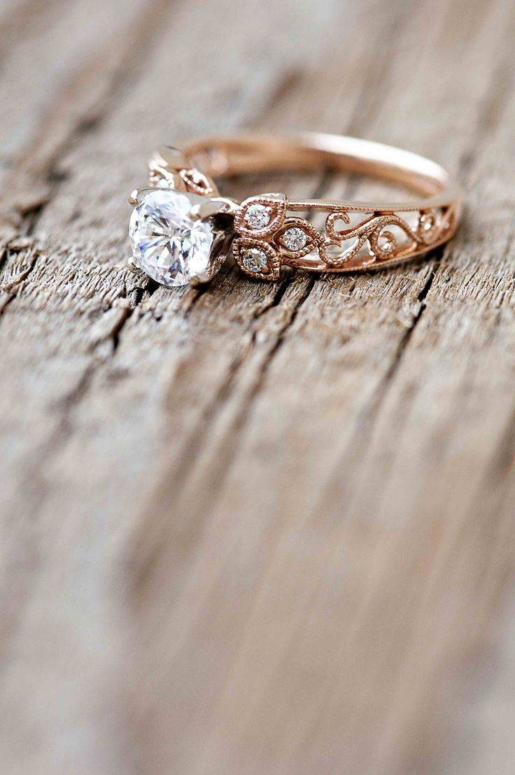 Best 20+ Flower Engagement Rings Ideas On Pinterest | Beautiful With Wedding Rings That Looks Like A Rose (View 2 of 15)