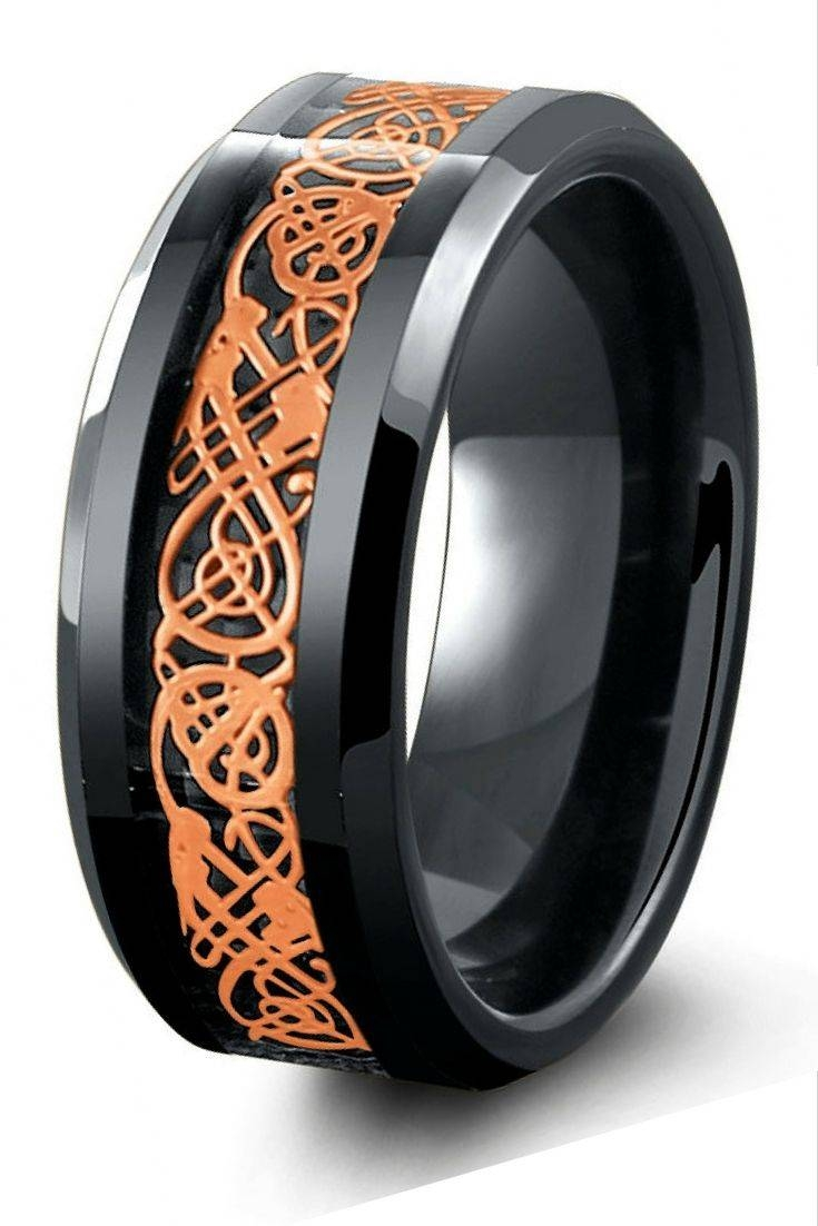 Best 20+ Mens Celtic Wedding Bands Ideas On Pinterest | Celtic Within Tungsten And Rose Gold Wedding Bands (View 5 of 15)