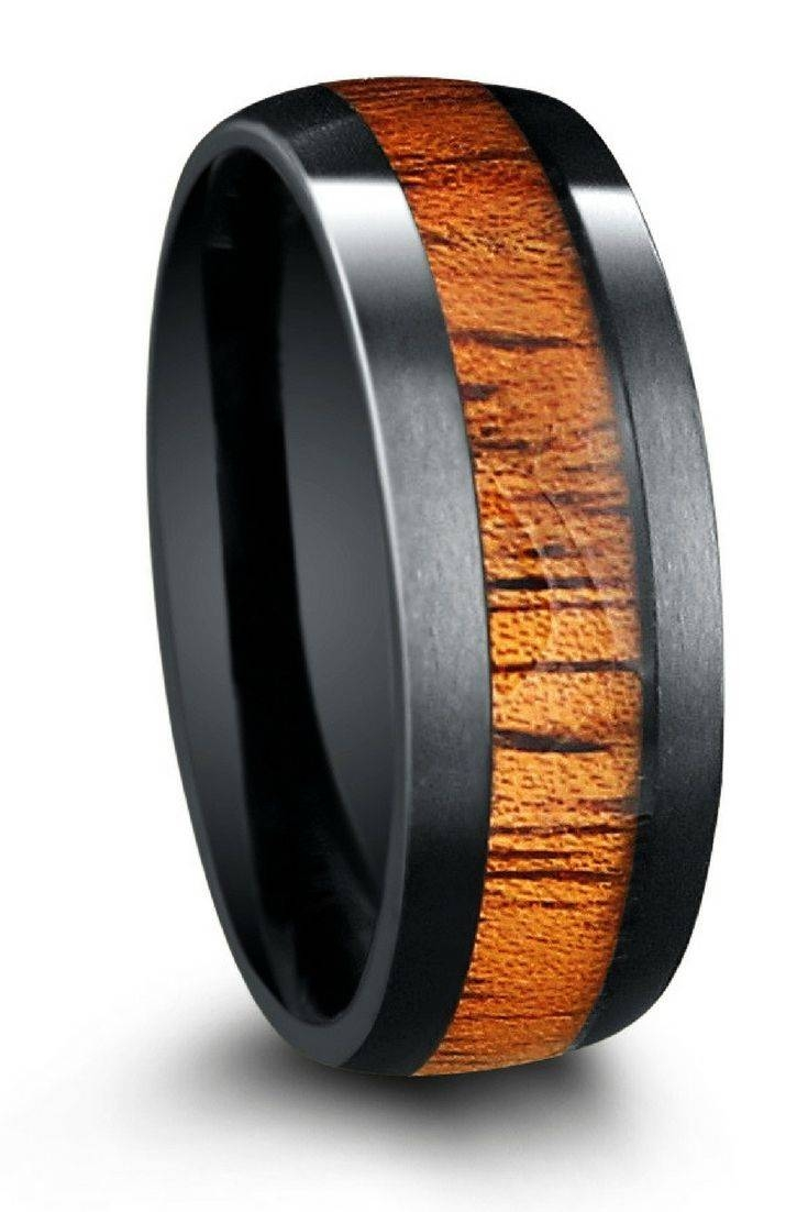 Best 20+ Mens Wood Wedding Bands Ideas On Pinterest | Wood Wedding Inside Matte Black Mens Wedding Bands (View 14 of 15)