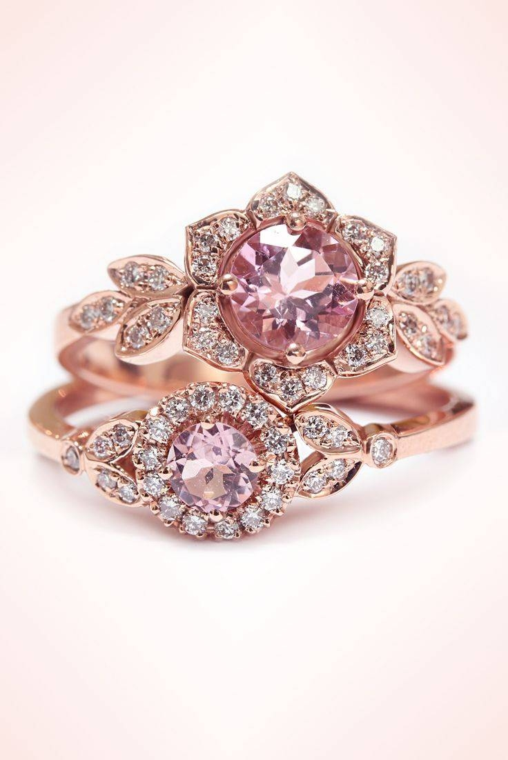 Best 20+ Pink Rings Ideas On Pinterest | Pink Diamond Ring, Pink Intended For Light Pink Wedding Rings (View 3 of 15)
