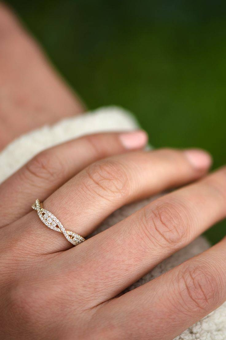 2018 popular wedding bands that fits around engagement ring With best wedding ring bands