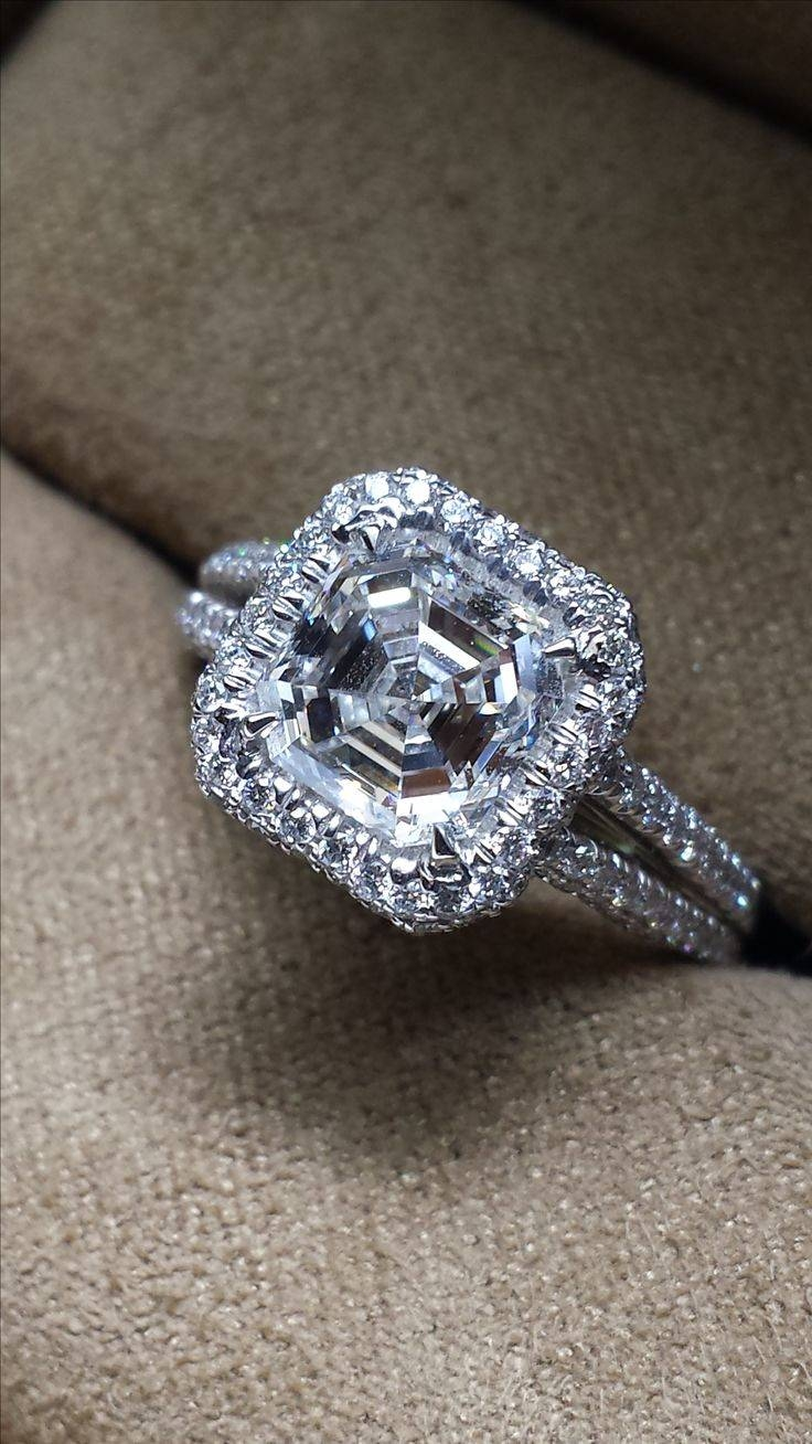 Best 25+ Asscher Cut Diamond Engagement Ring Ideas On Pinterest With Traditional Scottish Engagement Rings (View 8 of 15)
