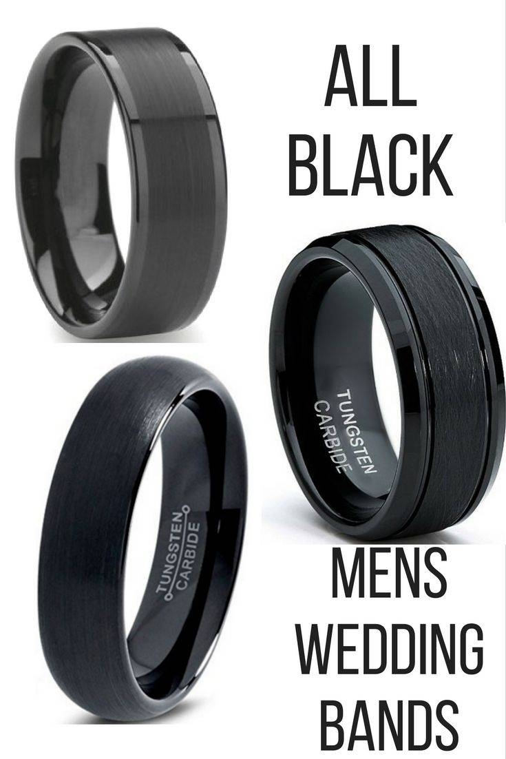 Featured Photo of Flat Black Wedding Bands