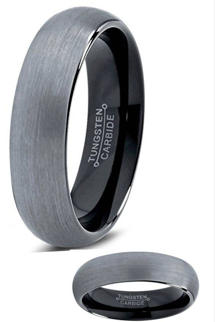 Best 25+ Black Wedding Bands Ideas Only On Pinterest | Men Wedding Throughout Non Metal Mens Wedding Bands (View 1 of 30)