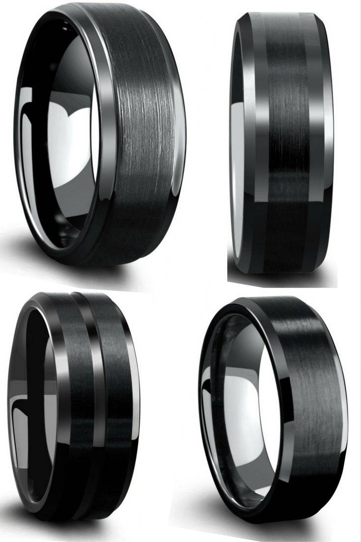 Best 25+ Black Wedding Bands Ideas Only On Pinterest | Men Wedding With Flat Black Wedding Bands (View 3 of 15)