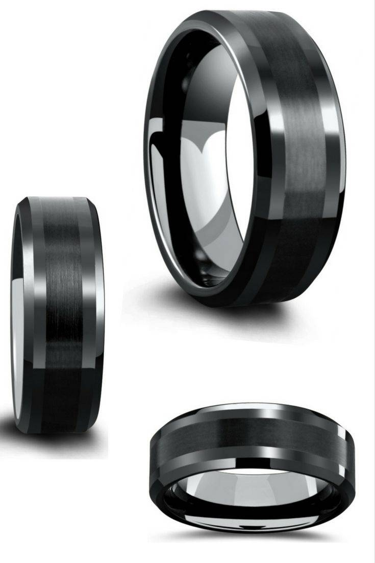 Best 25+ Black Wedding Bands Ideas Only On Pinterest | Men Wedding Within Black Wedding Bands (View 4 of 15)