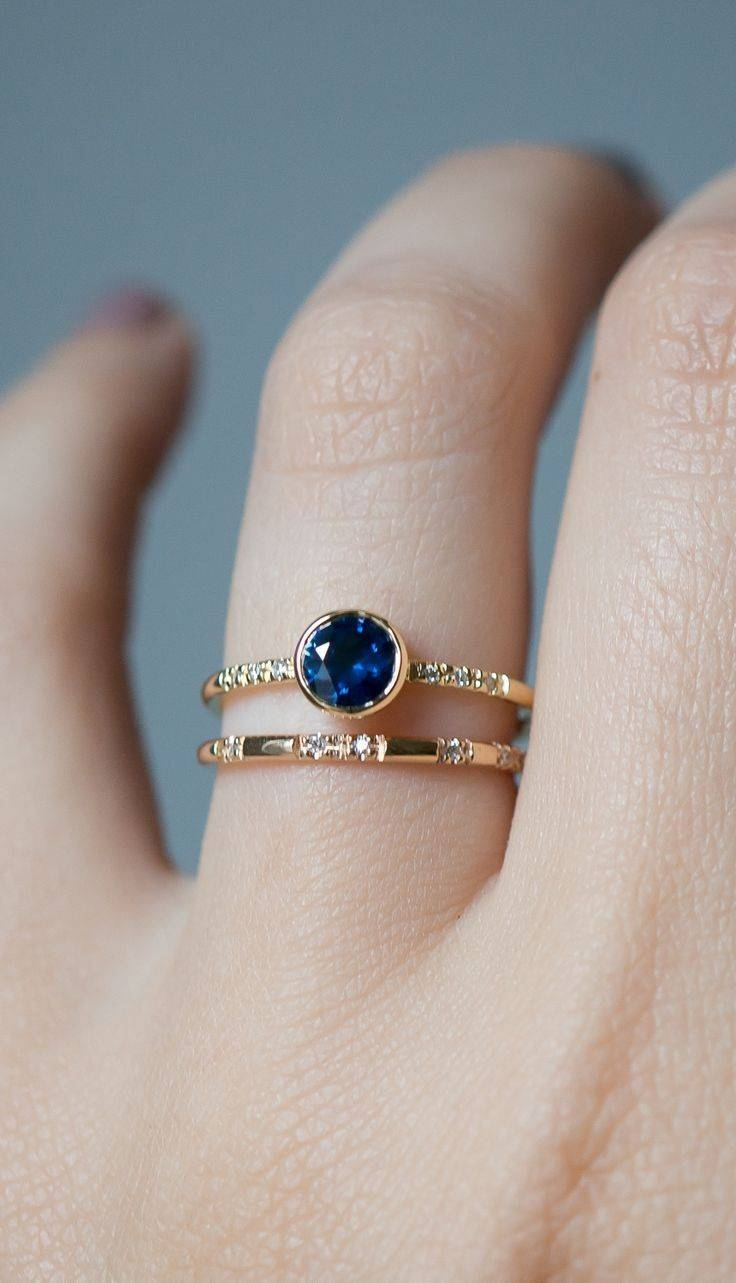 Best 25+ Blue Sapphire Ideas On Pinterest | Blue Sapphire Rings In Sapphire Engagement Rings With Wedding Band (View 3 of 15)