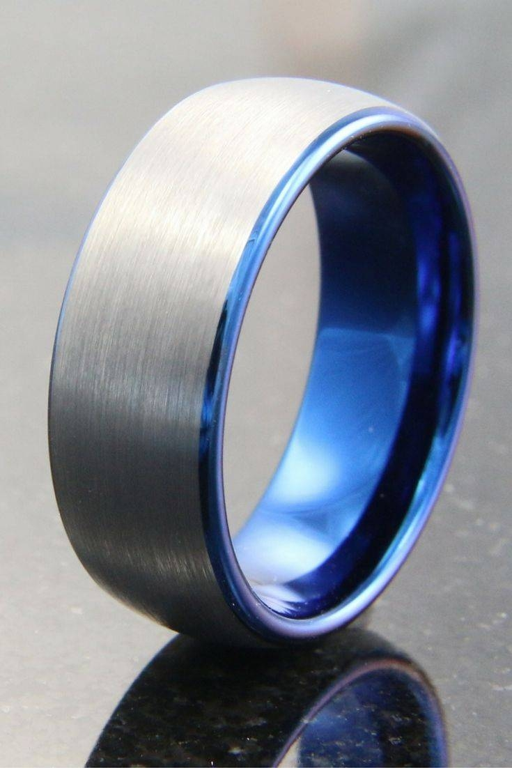 Best 25+ Blue Wedding Rings Ideas On Pinterest | Groom Wedding Regarding Blue Wedding Bands For Him (View 2 of 15)
