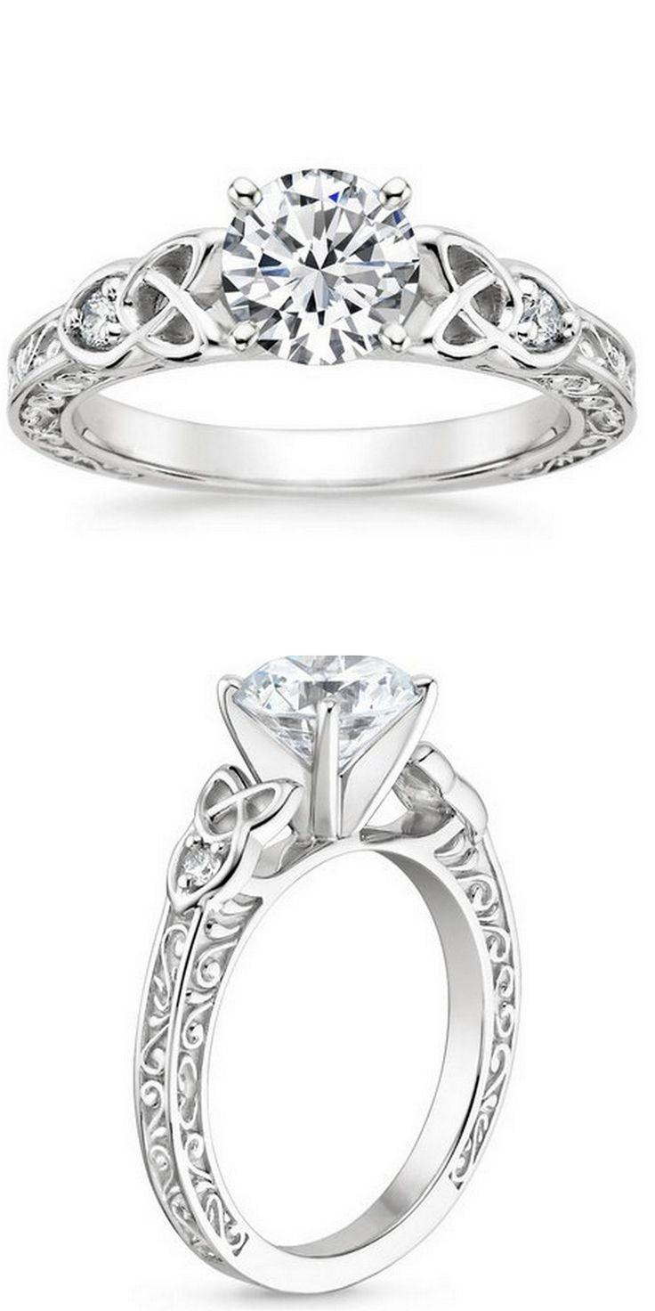 Best 25+ Celtic Wedding Rings Ideas On Pinterest | Celtic Rings Regarding Interlocking Engagement Rings And Wedding Band (View 14 of 15)