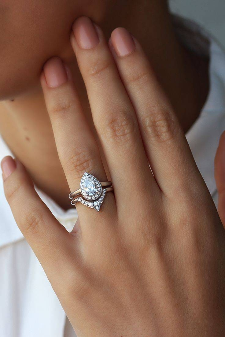 Best 25+ Curved Wedding Band Ideas On Pinterest | Pear Shaped Within Wedding And Engagement Rings That Fit Together (View 1 of 15)