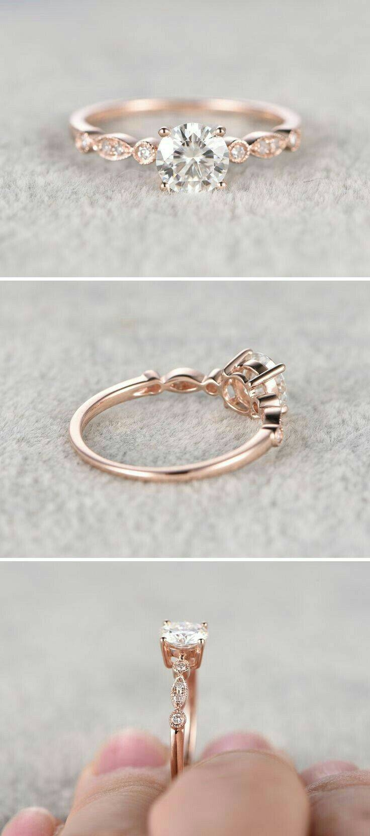 Best 25+ Dainty Engagement Rings Ideas On Pinterest | Wedding With Floating Diamond Wedding Bands (View 4 of 15)