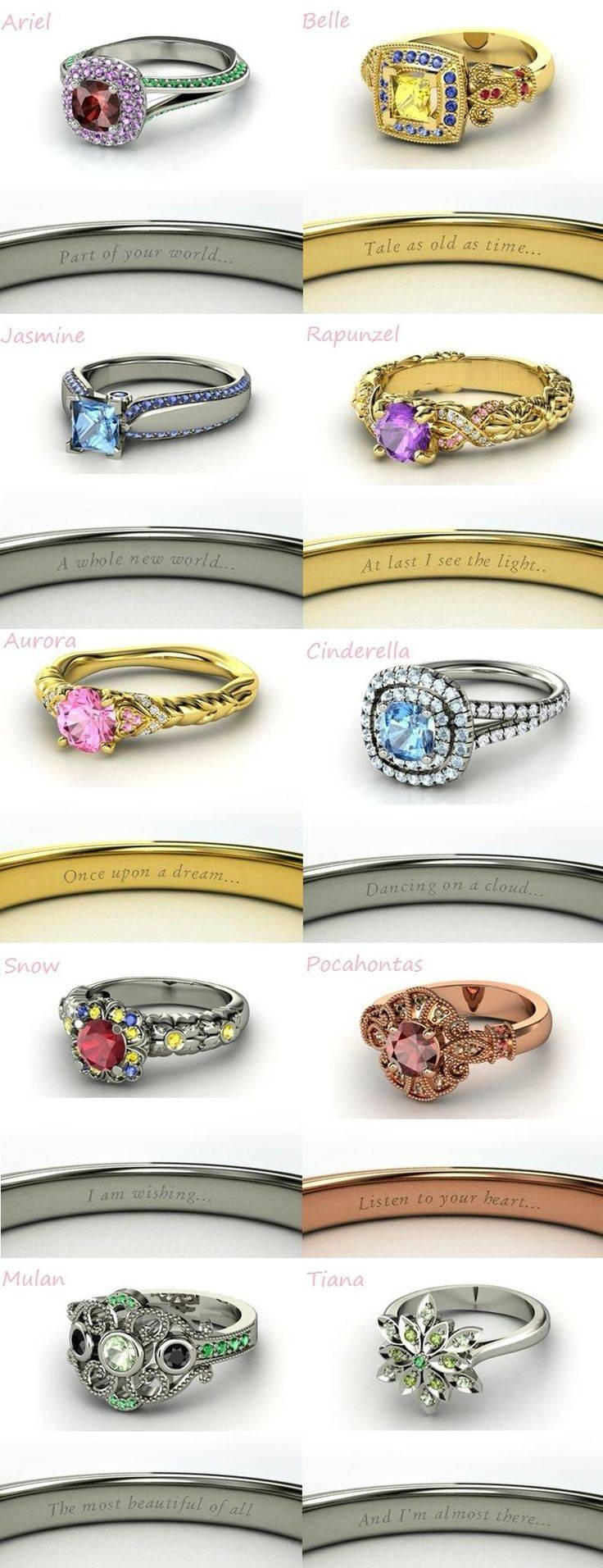 Best 25+ Disney Princess Engagement Rings Ideas On Pinterest With Regard To Disney Themed Engagement Rings (View 6 of 15)