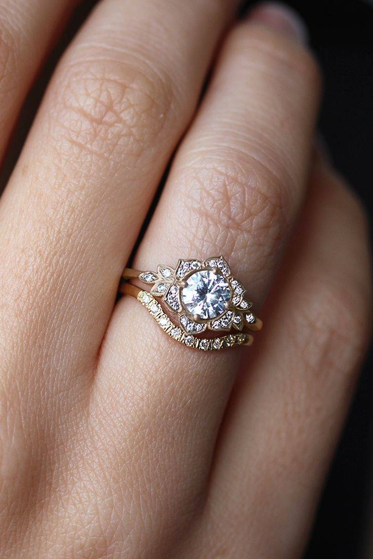 Best 25+ Floral Engagement Ring Ideas On Pinterest | Vintage Gold With Wedding Engagement Bands (View 2 of 15)