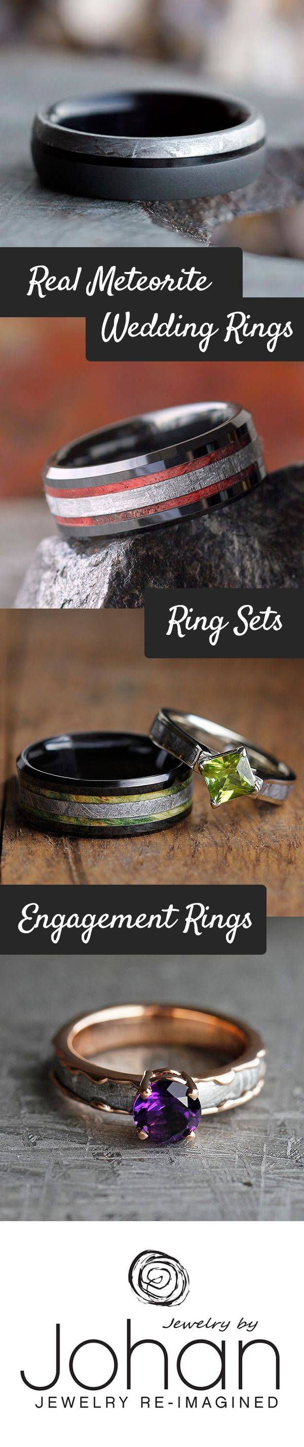Best 25+ Meteorite Ring Ideas On Pinterest | Meteorite Wedding Pertaining To Men's Wedding Bands Materials (View 3 of 15)