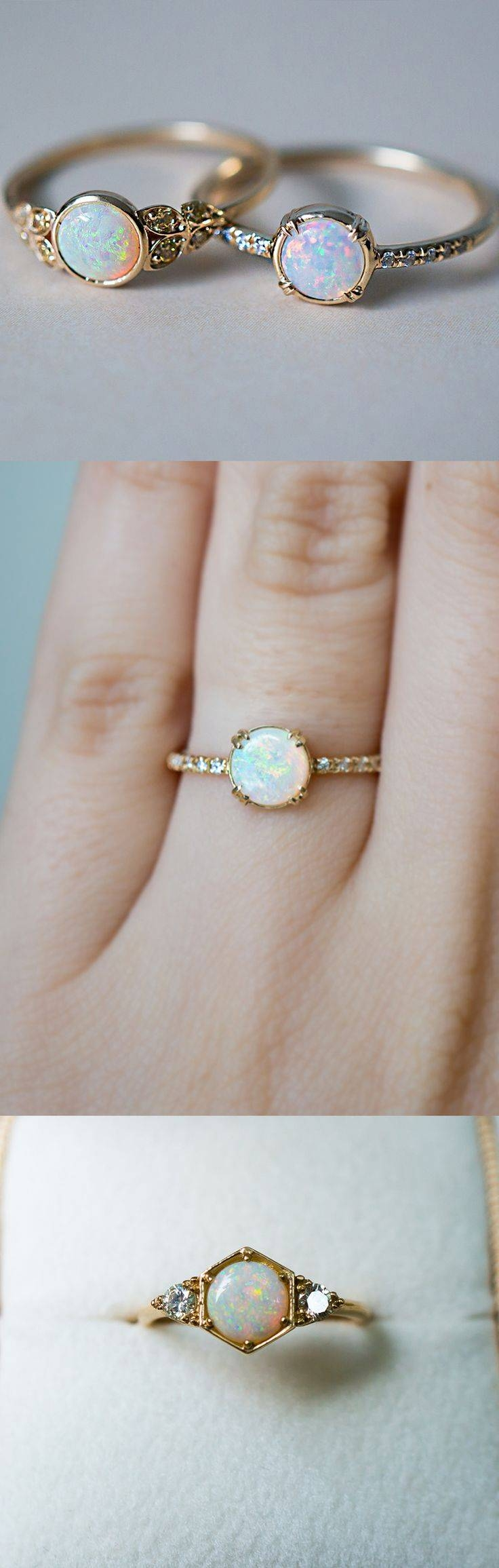 Best 25+ Opal Engagement Rings Ideas On Pinterest | Pretty Rings Throughout Opal Wedding Rings (Gallery 13 of 15)