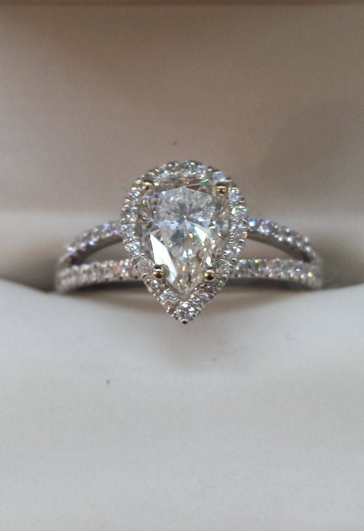 Best 25+ Pear Shaped Engagement Rings Ideas On Pinterest | Pear In Pear Shaped Engagement Rings Diamond Settings (Gallery 4 of 15)