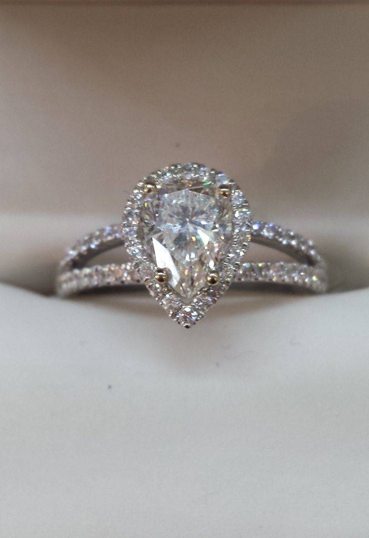 Best 25+ Pear Shaped Engagement Rings Ideas On Pinterest | Pear Within Pear Shaped Diamond Settings Engagement Rings (Gallery 6 of 15)
