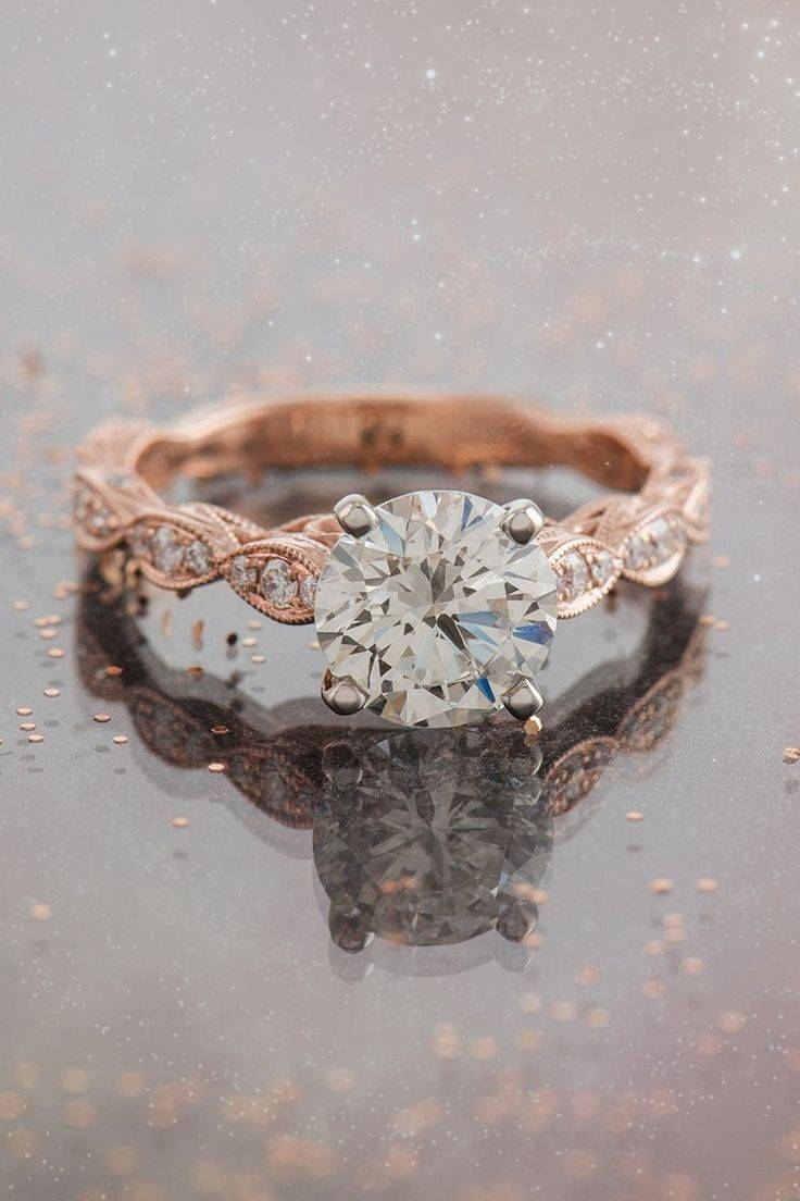 Best 25+ Rose Gold Engagement Ideas On Pinterest | Rose Gold Intended For Hipster Wedding Bands (View 7 of 15)
