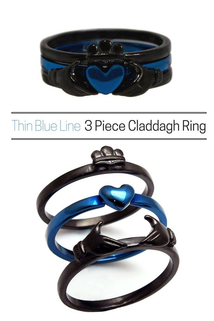 Best 25+ Thin Blue Line Ring Ideas Only On Pinterest | Police Wife Throughout Blue Line Wedding Bands (View 3 of 15)