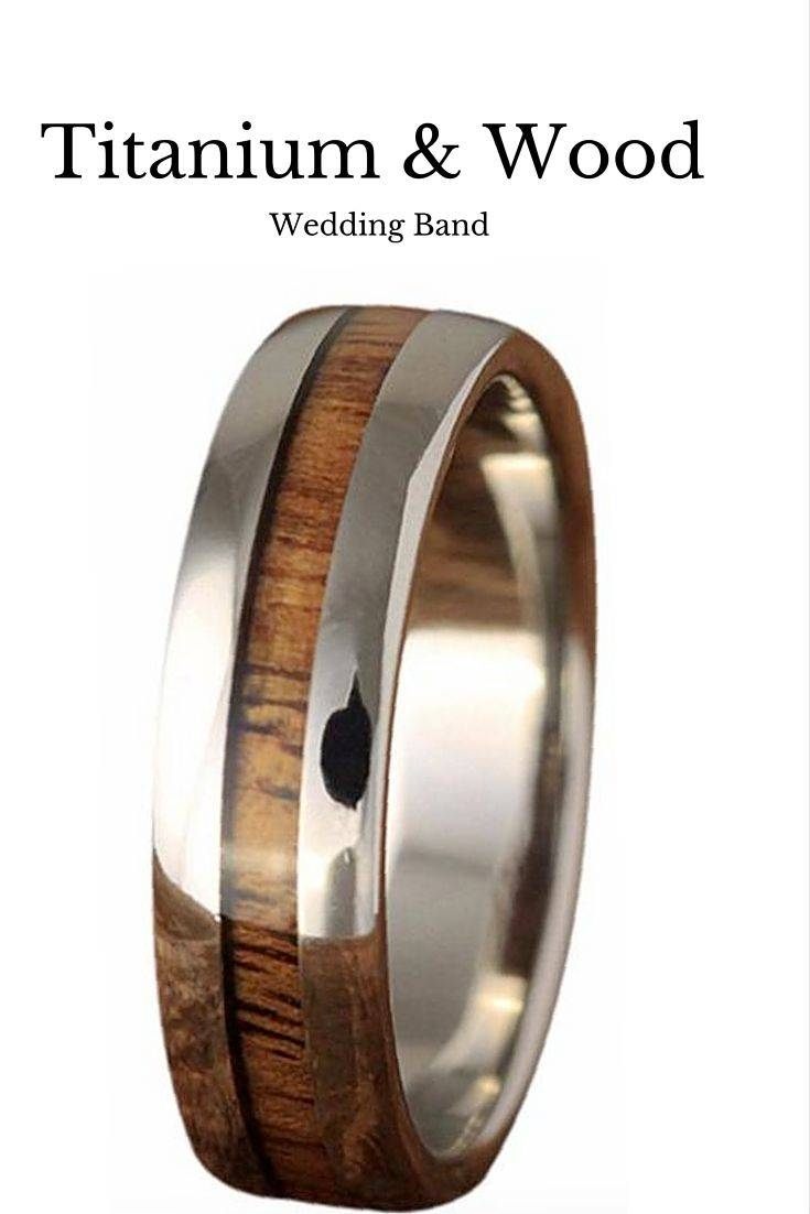 Featured Photo of Men Wood Grain Wedding Bands
