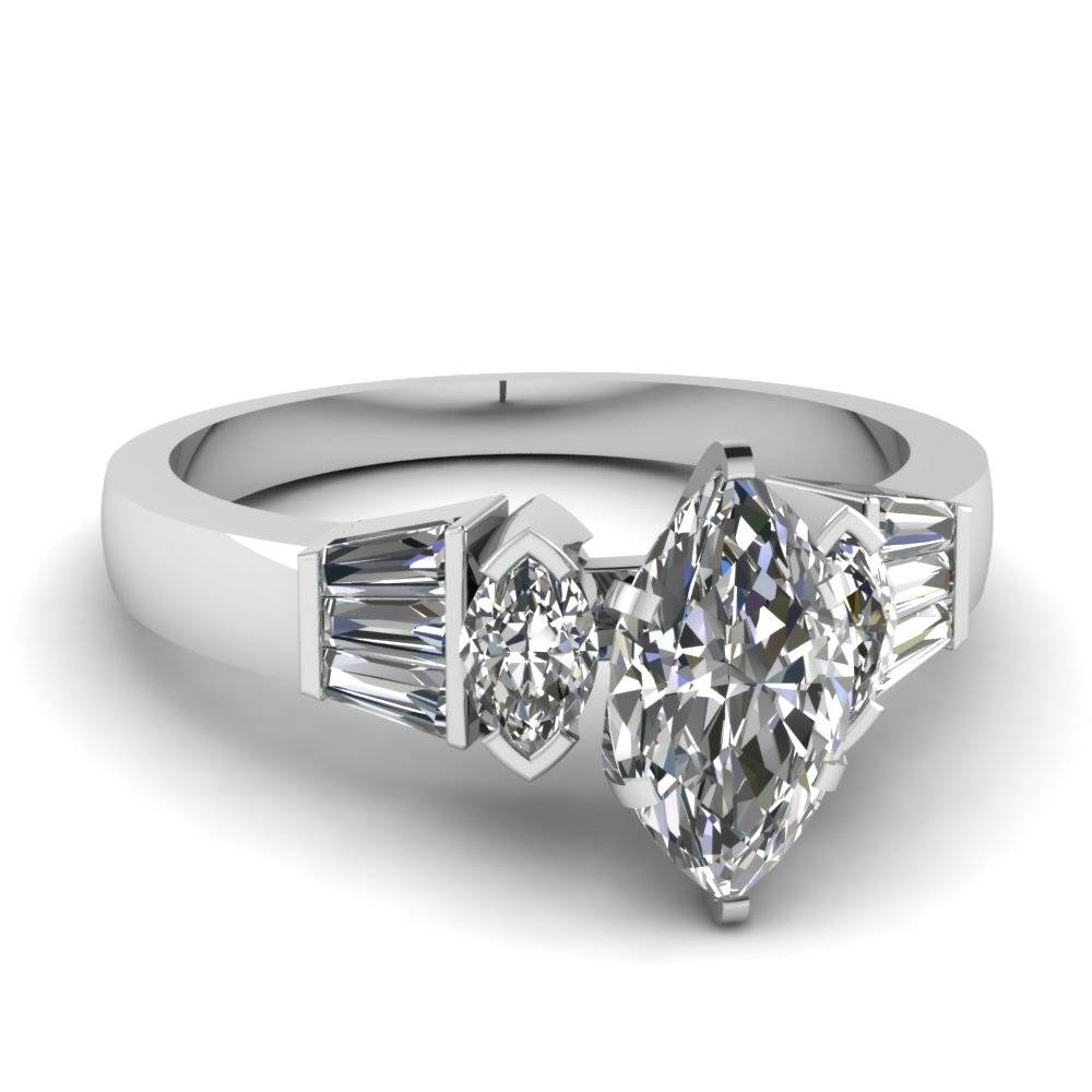Best And Affordable Marquise Cut Engagement Rings |fascinating With Regard To Marquise Cut Diamond Wedding Rings Sets (View 7 of 15)