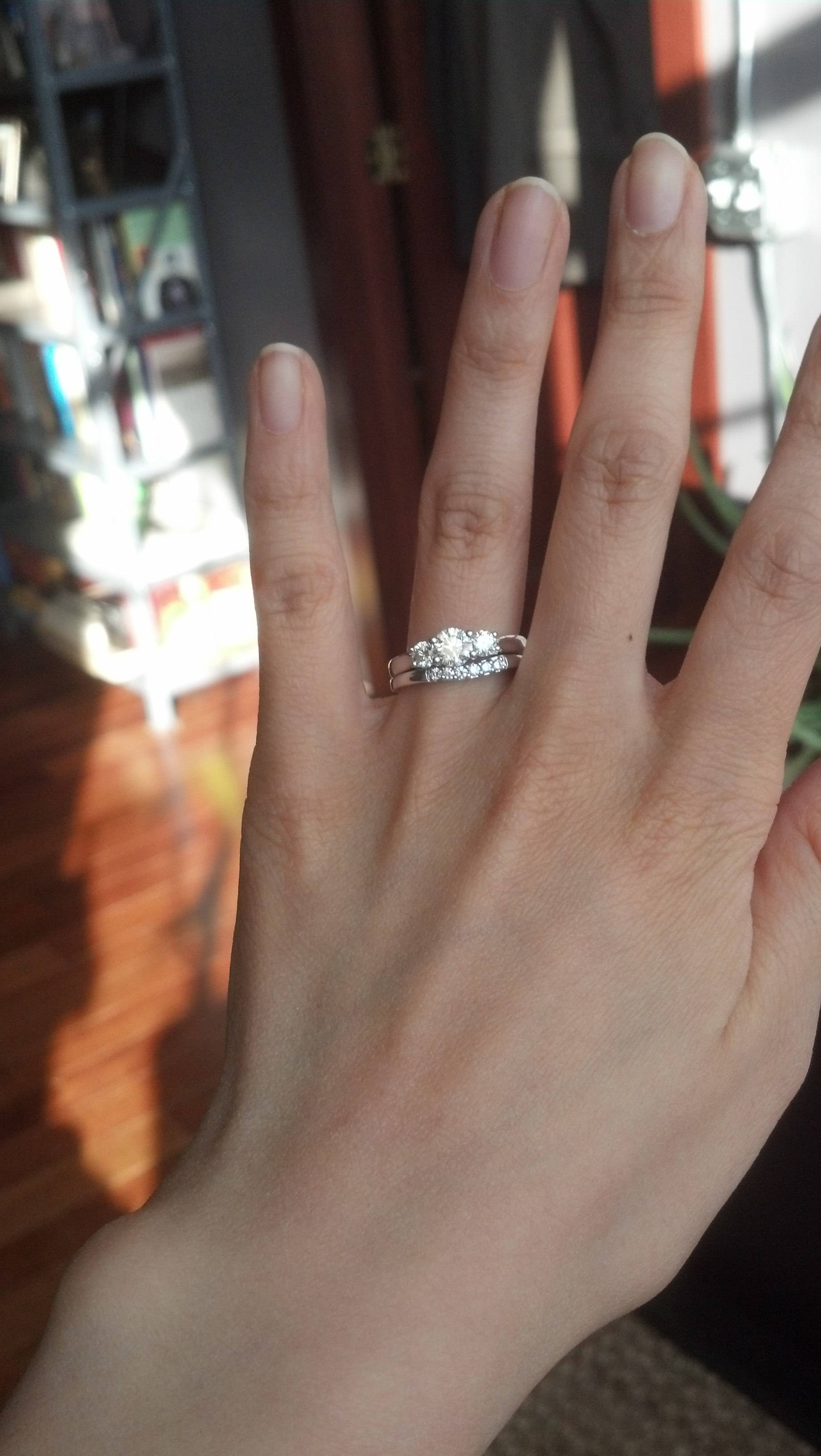 Best Bang For Your Buck: Resetting A Costco Diamond Ring (Pics Within Costco Wedding Bands (View 2 of 15)