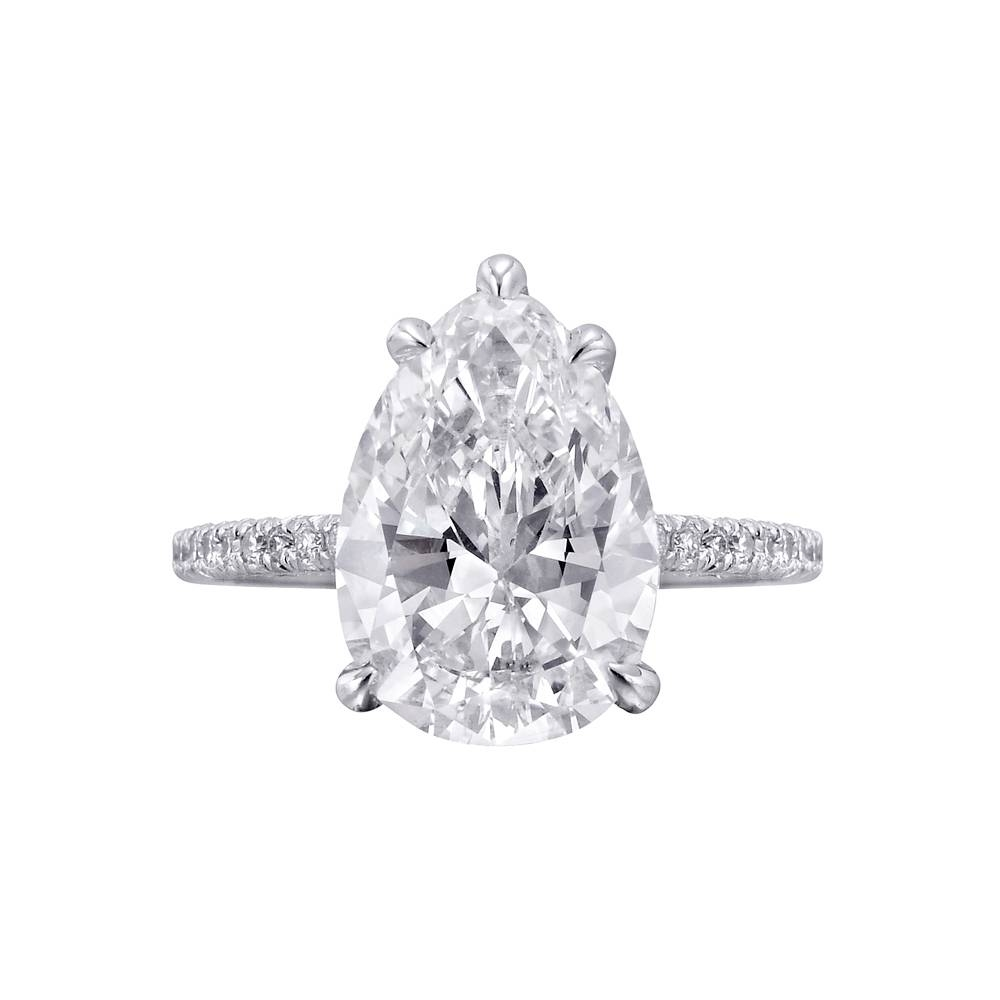 Betteridge 2.76 Carat Pear Shaped Diamond Engagement Ring | Betteridge Intended For Pear Shaped Engagement Rings Diamond Settings (Gallery 2 of 15)