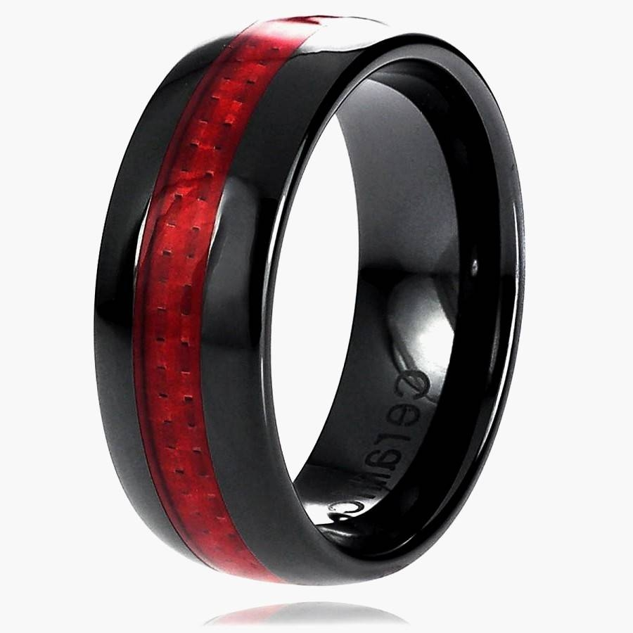 Black And Red Wedding Ring Sets New Cheap Black And Red Wedding Inside Black And Red Wedding Bands (View 4 of 15)