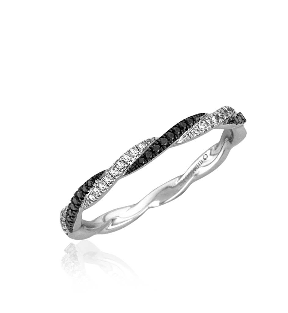 Black And White Diamonds Wedding Band (.07ct) ( (View 4 of 15)