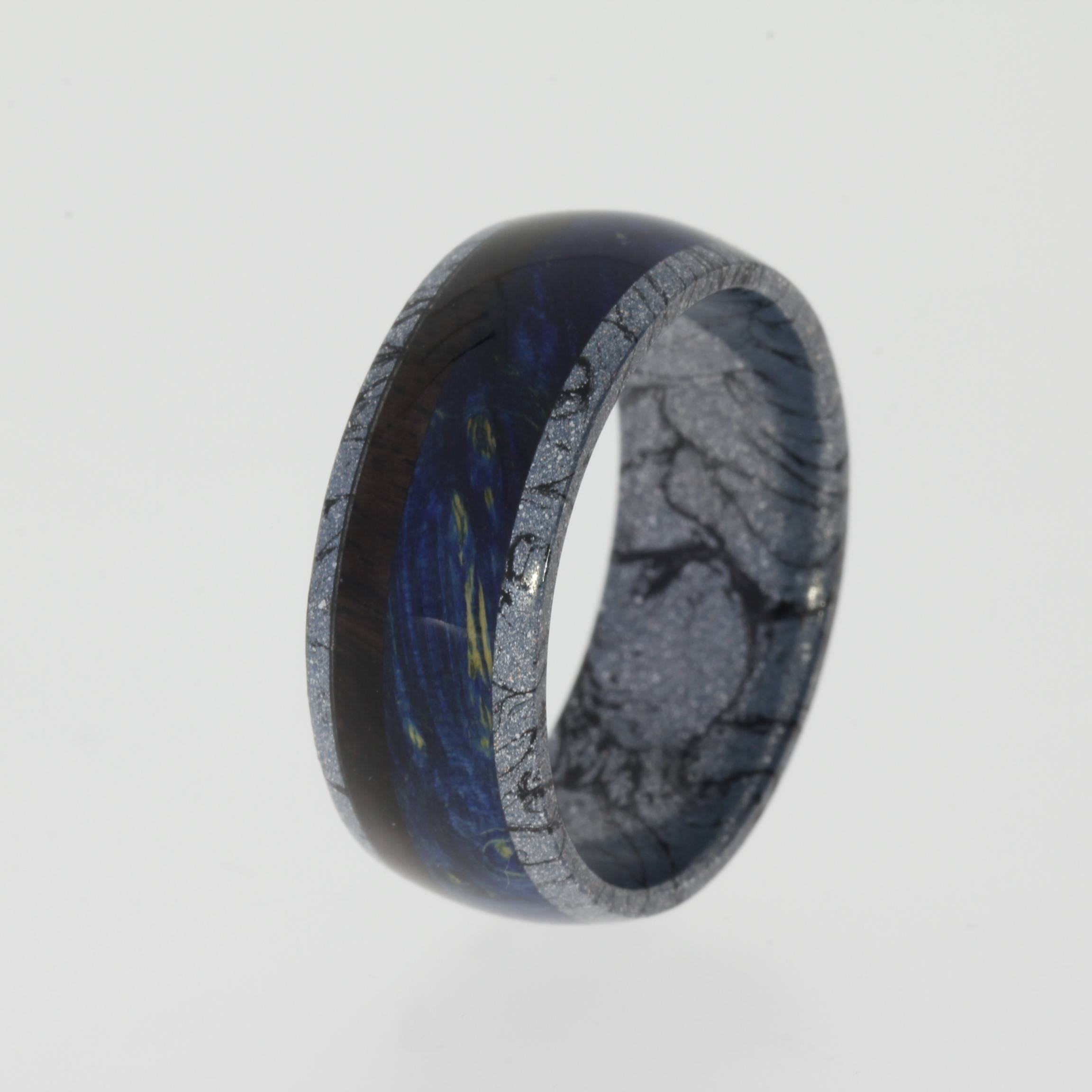 Black Titanium Cobalt Mokume Gane Mens Wedding Band 1 – Jewelry Pertaining To Mokume Mens Wedding Bands (View 1 of 15)