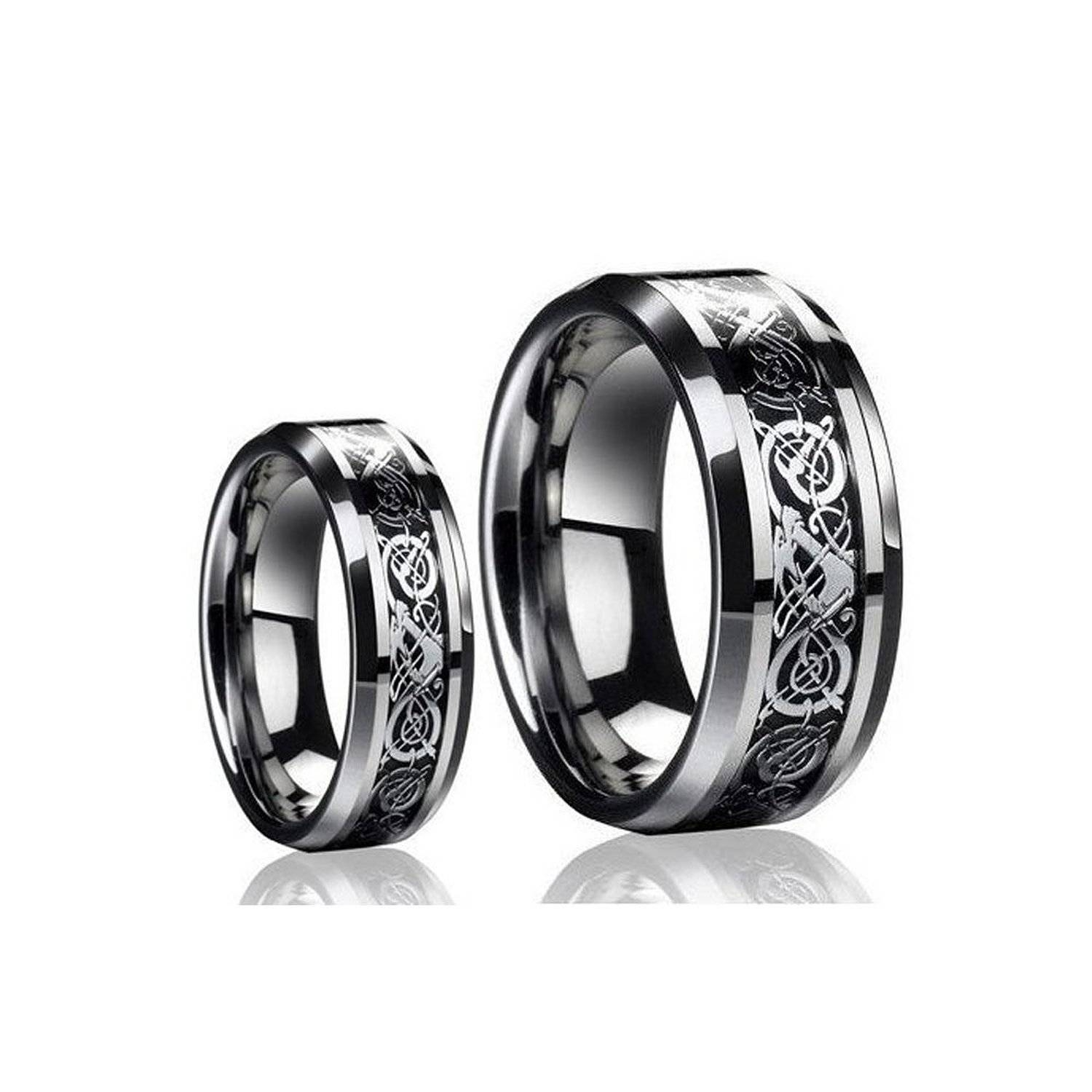 Black Titanium Wedding Band Sets, Black Wedding Band Sets Throughout Black Titanium Wedding Bands Sets (View 2 of 15)