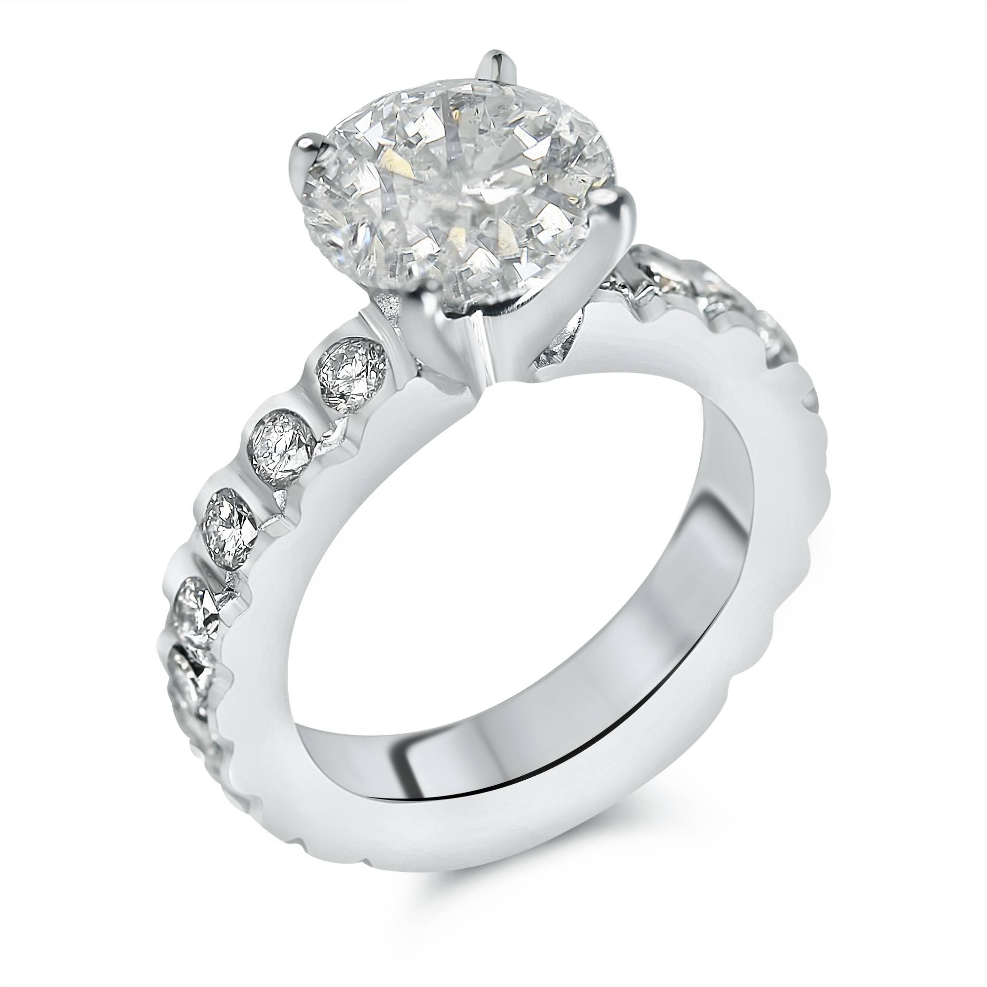 ring diamond settings jewellery engagement three