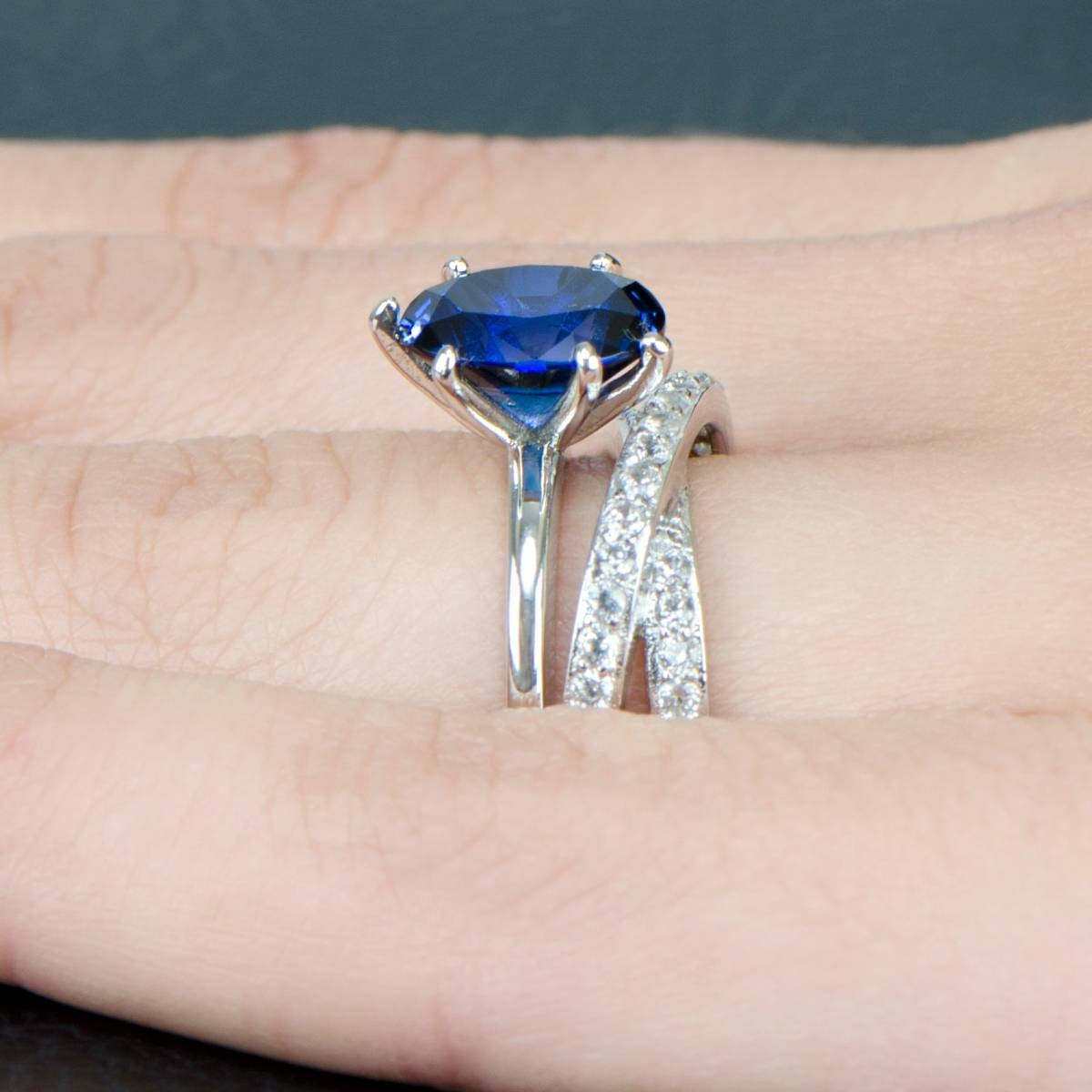 Blue Cz Unique Wedding Ring Set With Unique Wedding Rings Sets (View 10 of 15)