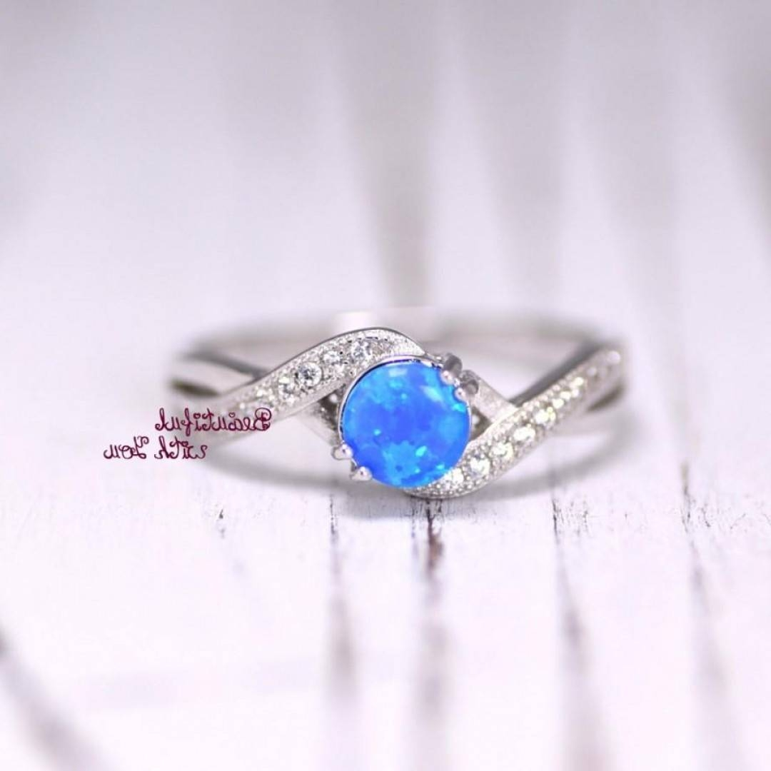 Blue Fancy Opal Engagement Rings | Ksvhs Jewellery Pertaining To Tie The Knot Engagement Rings (Gallery 11 of 15)