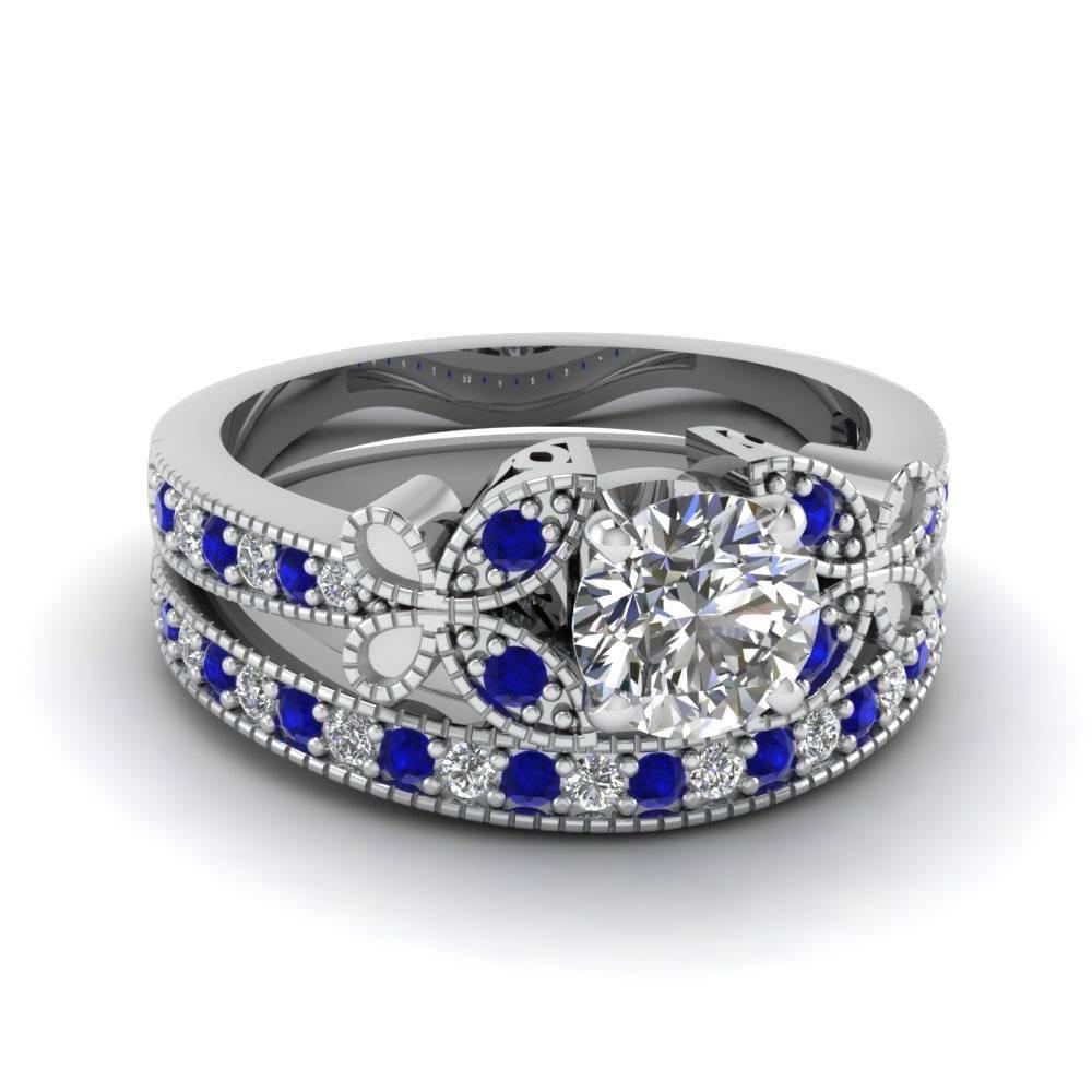 Blue Sapphire Engagement Rings | Fascinating Diamonds Regarding Sapphire And Diamond Wedding Rings (View 4 of 15)