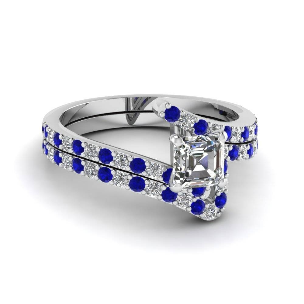 Blue Sapphire Engagement Rings | Fascinating Diamonds Throughout Blue Diamond Wedding Rings Sets (View 8 of 15)