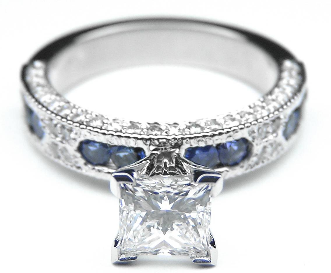 Blue Sapphire – Engagement Rings From Mdc Diamonds Nyc Regarding Princess Cut Sapphire Engagement Rings (View 4 of 15)