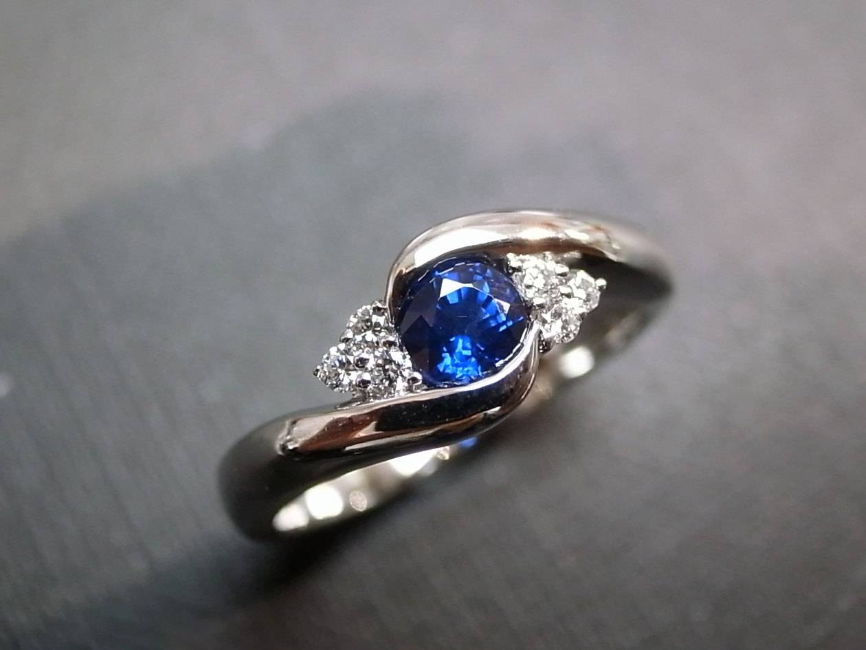 Blue Sapphire Rings Diamond Rings Engagement Rings Wedding Within Sapphire Wedding Rings (View 12 of 15)